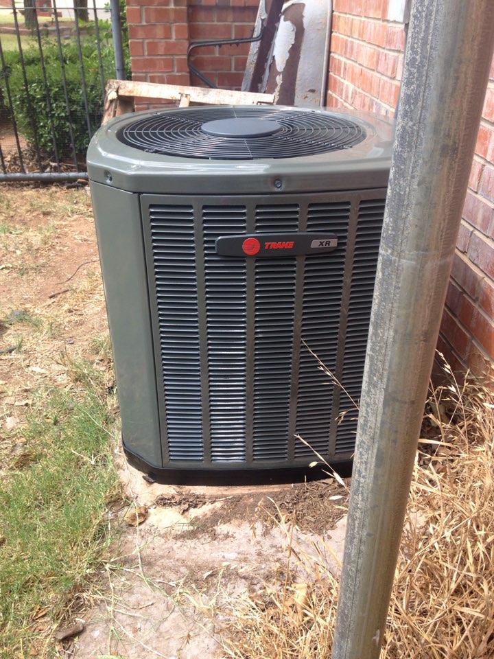 Piedmont, OK - Installing a trane furnace with ac