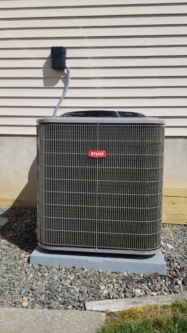 Galloway, NJ - Install of a  Bryant and coil Condenser, 5 ton 14 seers
