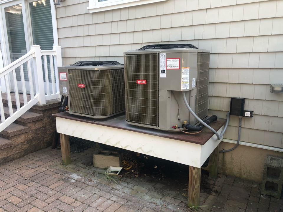 Margate City, NJ - Installed Bryant Condenser and coil upstairs and downstairs units.
