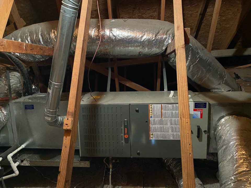 Benbrook, TX - Air conditioning repair had to replace in an evaporator coil on a Trane heat pump system here in Benbrook Texas