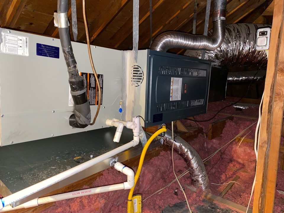 Fort Worth, TX - Heating Repair Contractor we did a little heater repair Repaired a gas furnace here in South West Fort Worth Texas