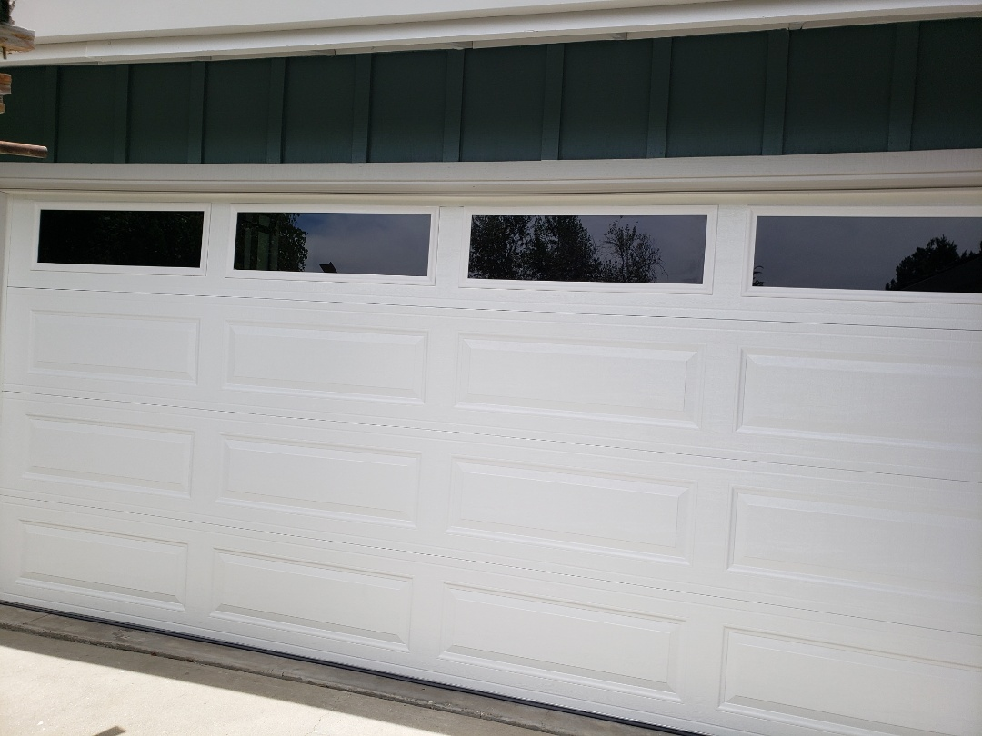 Scotts Valley, CA - Install new garage door. 16x7 Amarr Stratford 3000 Liftmaster 8550