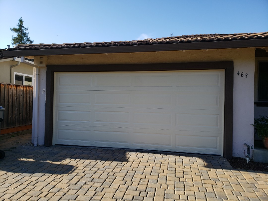 "Scotts Valley, CA - Install new garage door. 16x6'9"" Amarr Stratford 3000 Liftmaster WLED"