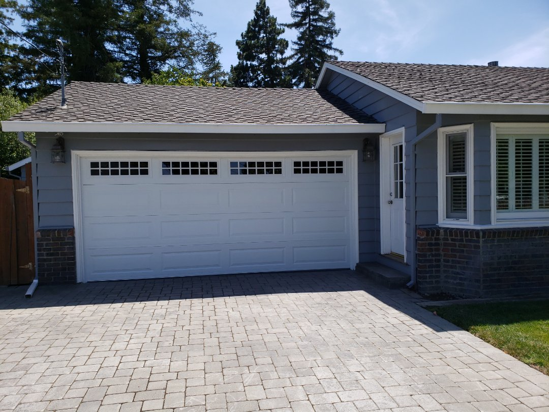 Install new garage door. 15'6x7 Amarr Stratford 3000 Liftmaster WLED