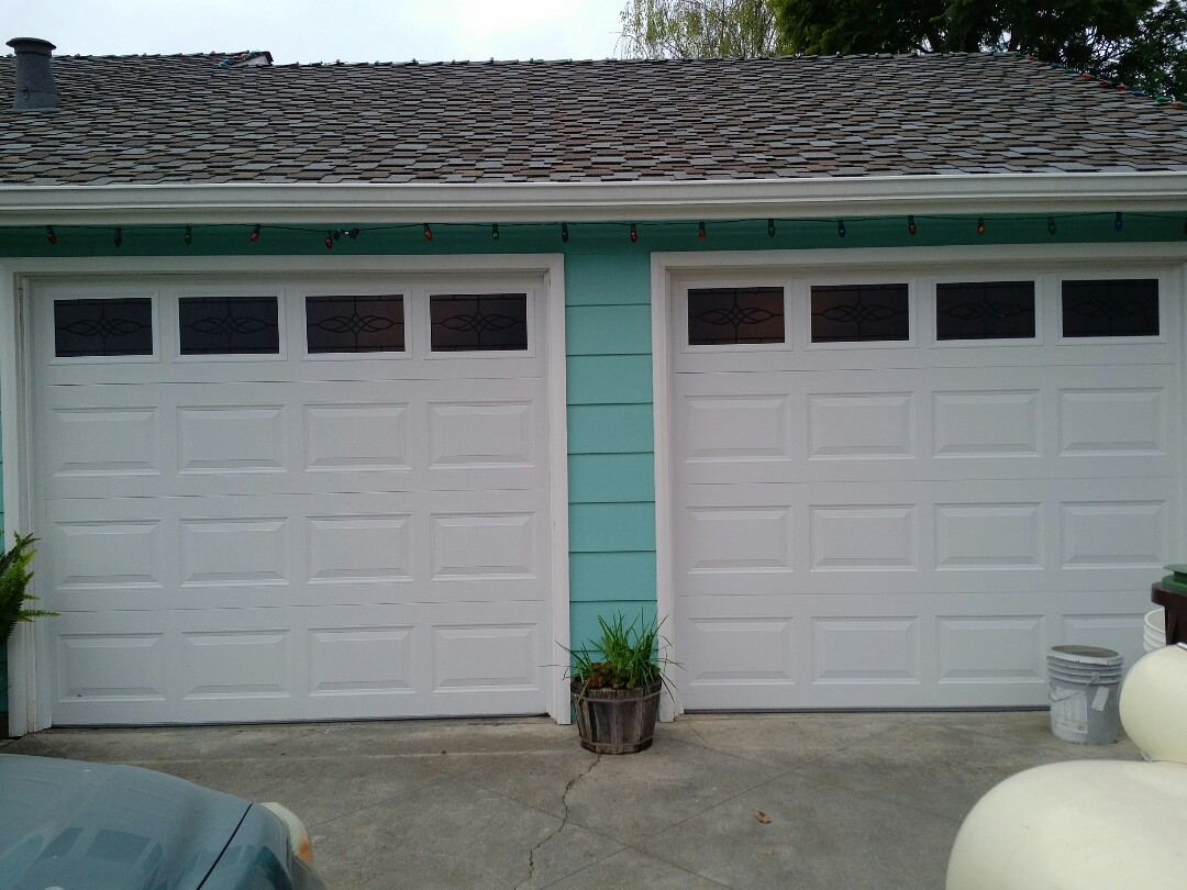Santa Cruz, CA - 2 steel garage doors with LiftMaster garage door openers
