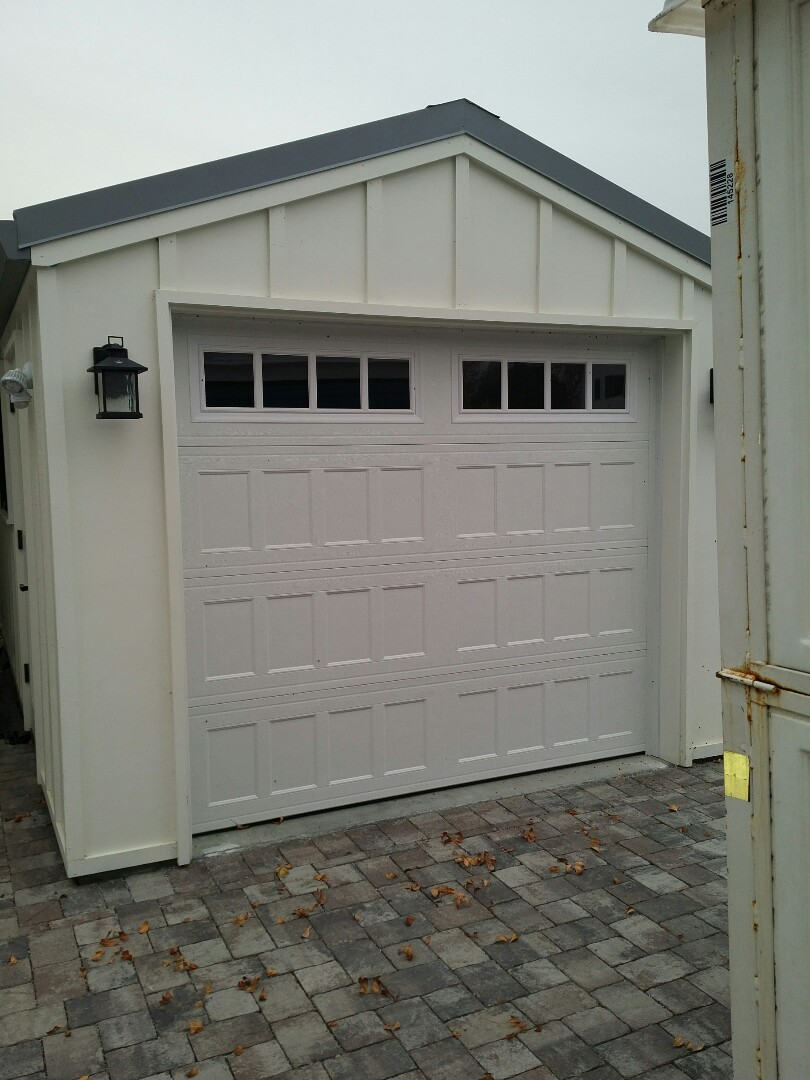 Palo Alto, CA - Steel garage door with Windows and a LiftMaster opener photo