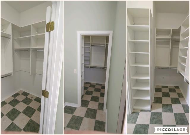 Design, Fabrication and Installation of a Master Closet made from White Melamine with Polished Chrome Accessories.