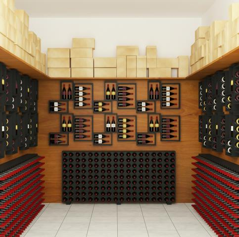 The wine rack peg system is based on two metal pegs when place in a cellar wall just a few inches apart to store a premium wine bottle parallel to the wall.