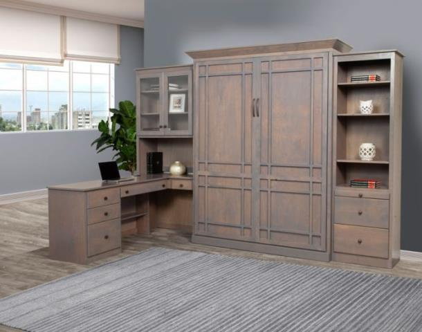 Custom Storage With A Murphy Bed.