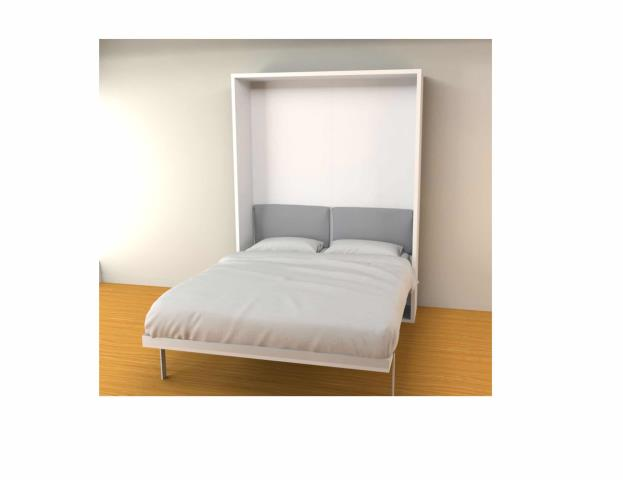You can easily add custom storage to your fold-down bed.