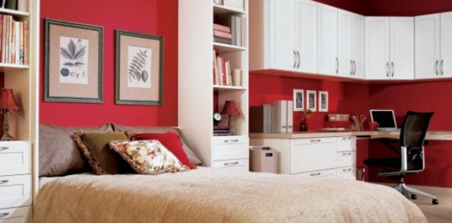 Murphy beds can transform your space into a multipurpose room.
