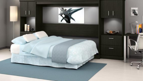 You can instantly transform a room into a living room, a guest room, a playroom for your kids or an office room by adding a fold-down bed to the room.