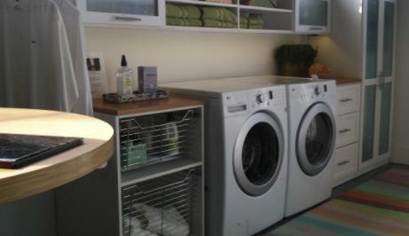 Custom laundry makes doing laundry easier.
