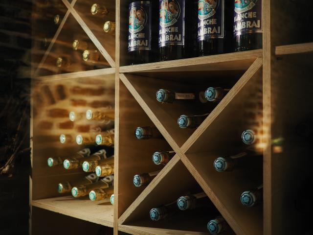 A cellar should not be exposed to sun rays as UV rays can affect the quality of the wine.
