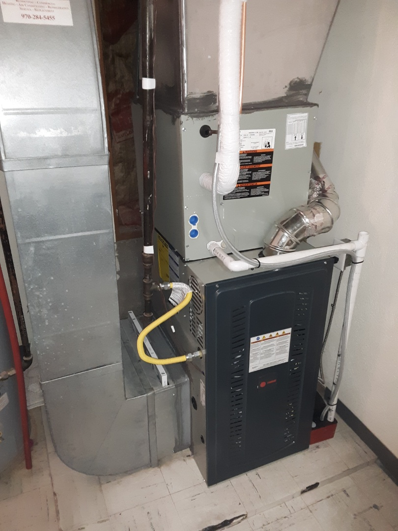 La Salle, CO - Install Trane single stage furnace and train AC in LaSalle