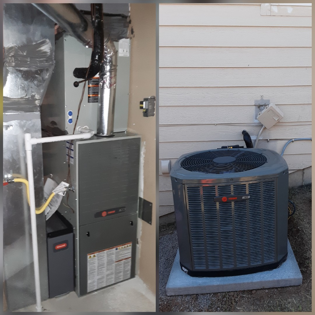 Evans, CO - Install Trane 2-stage communicating furnace and Trane single stage AC in Evans