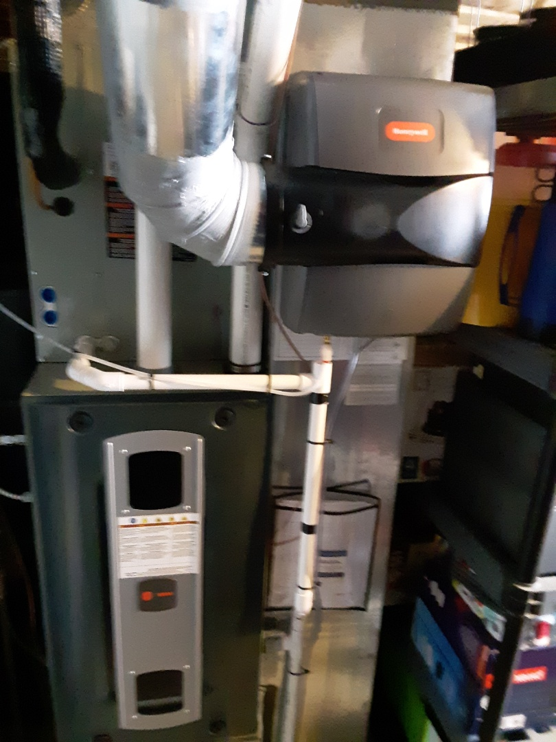 Greeley, CO - Install Trane two stage variable speed furnace and Trane two stage AC and Honeywell humidifier in Evans
