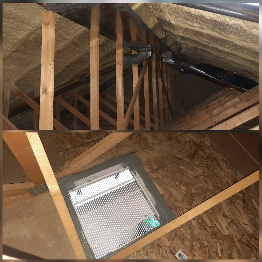 Eaton, CO - Install duct work in attic