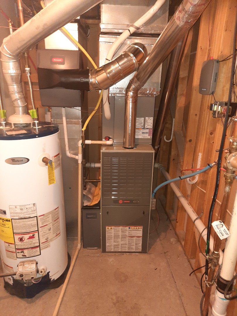 Evans, CO - Install Trane 2 stage furnace and honeywell humidifier in Evans