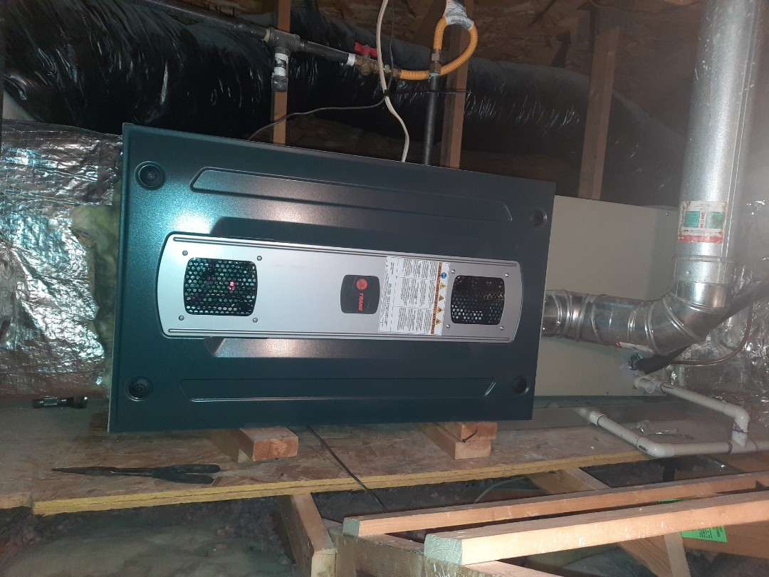 Fort Collins, CO - Install Trane Attic furnace in fortcollins