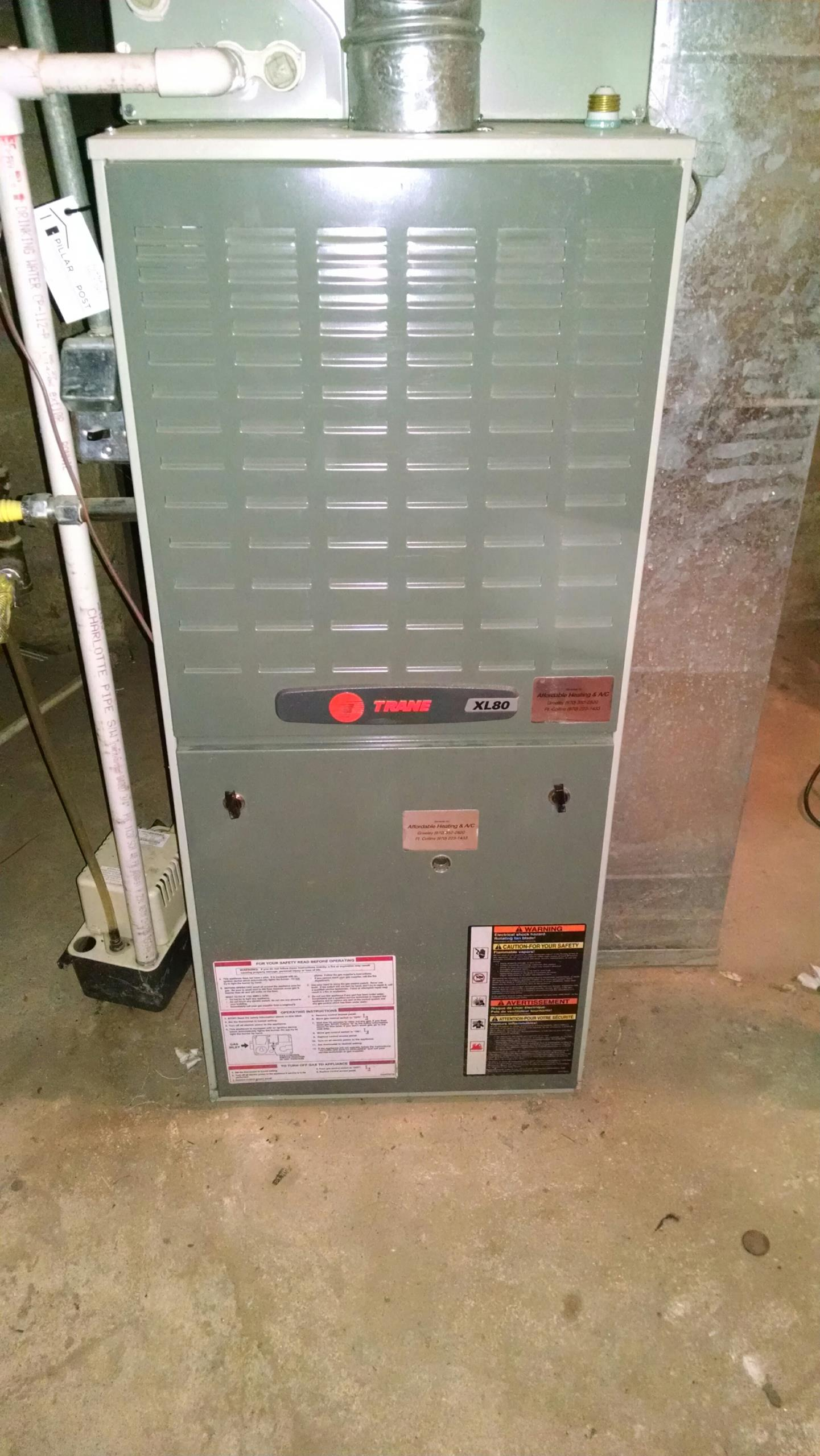 La Salle, CO - Maintenance on Trane furnace service heater
