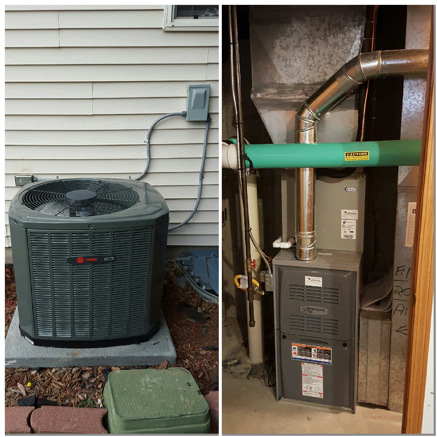 Ault, CO - Trane AC install in Ault