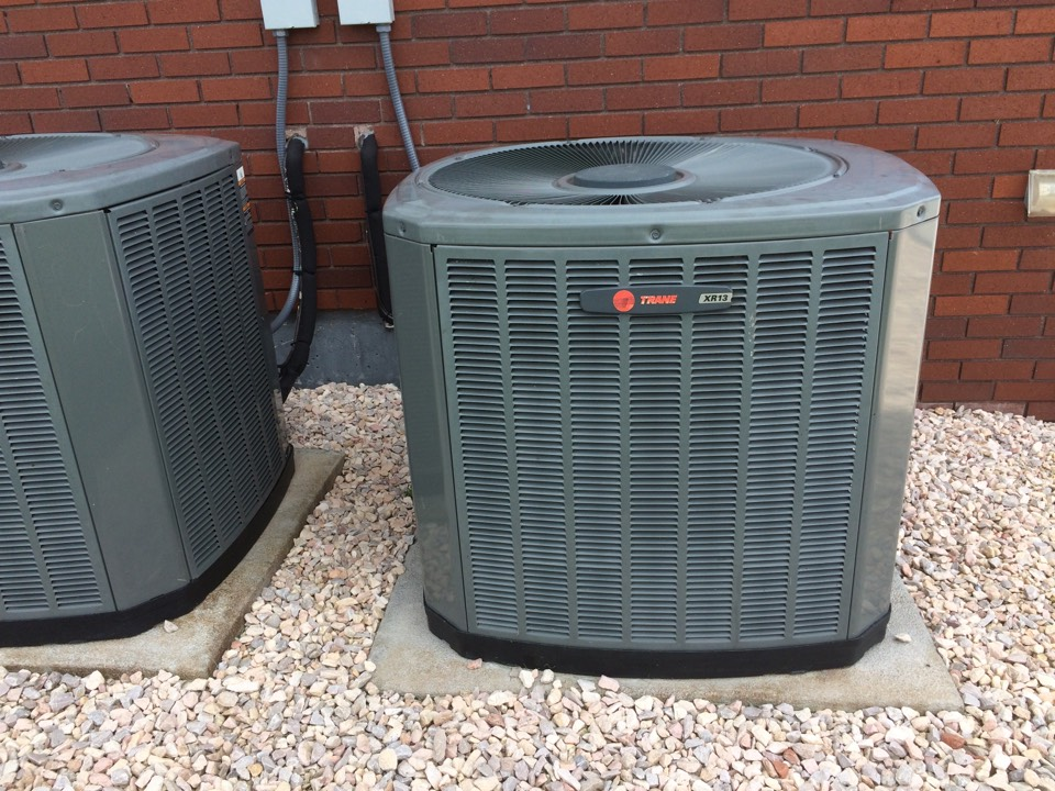 Severance, CO - Trane AC repair. Replace condensing fan motor.