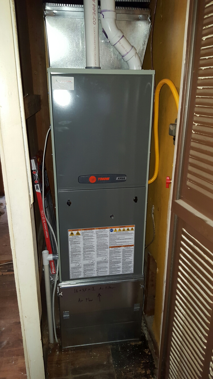 Johnstown, CO - Trane XR95 high efficient furnace install