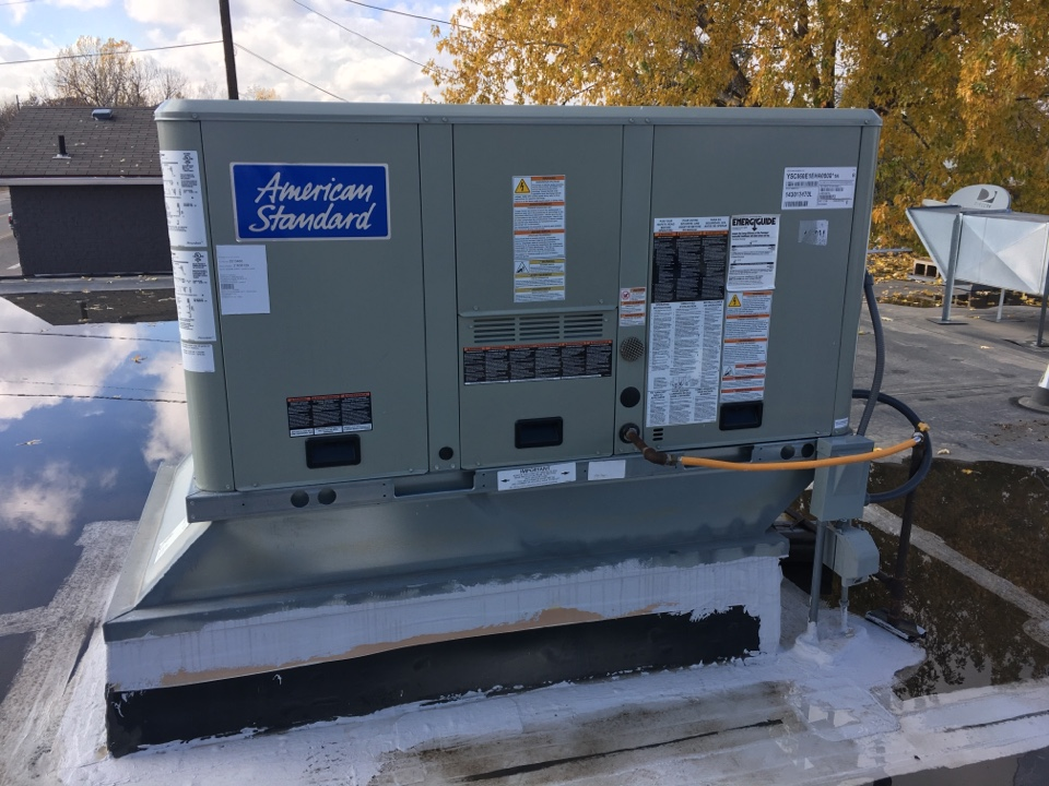 Milliken, CO - Trane rooftop unit RTU tuneup. Clean and check. Commercial HVAC.