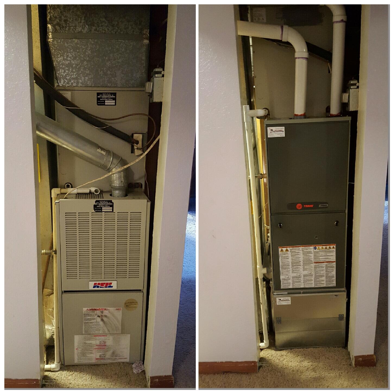 La Salle, CO - Trane XR95 furnace install