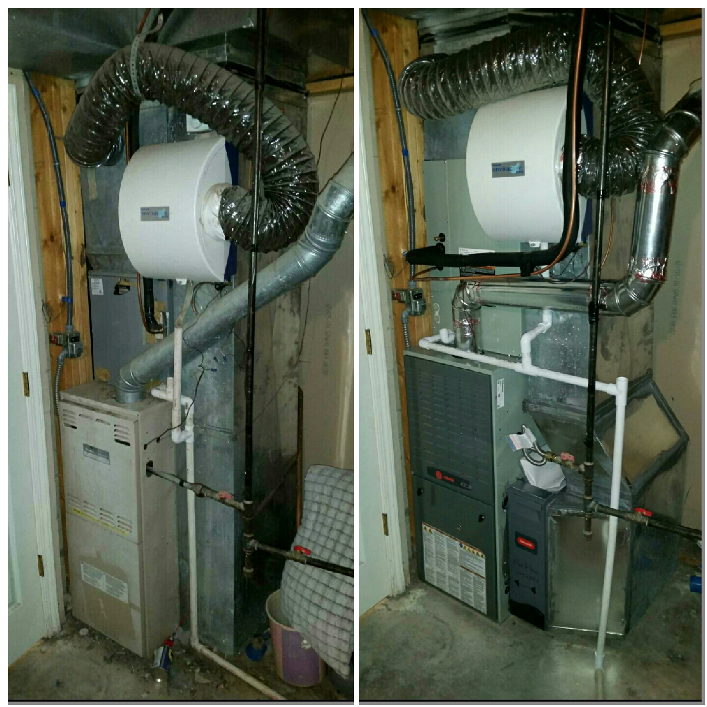 Milliken, CO - Trane furnace and AC install