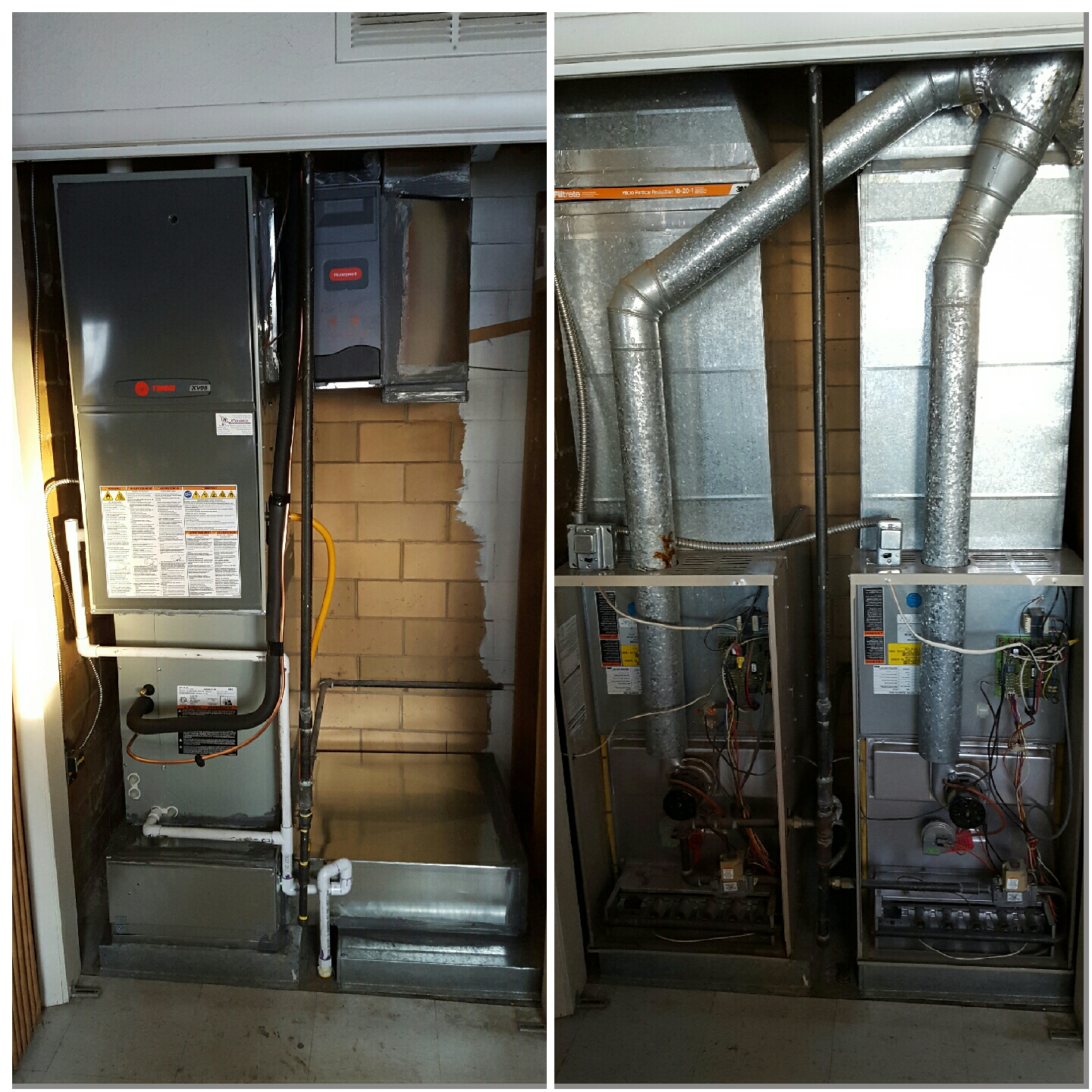 La Salle, CO - Trane down flow 2 stage furnace and AC install