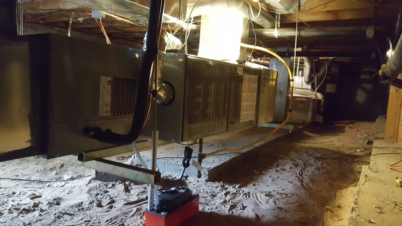 Windsor, CO - Trane furnace and AC install crawlspace Windsor