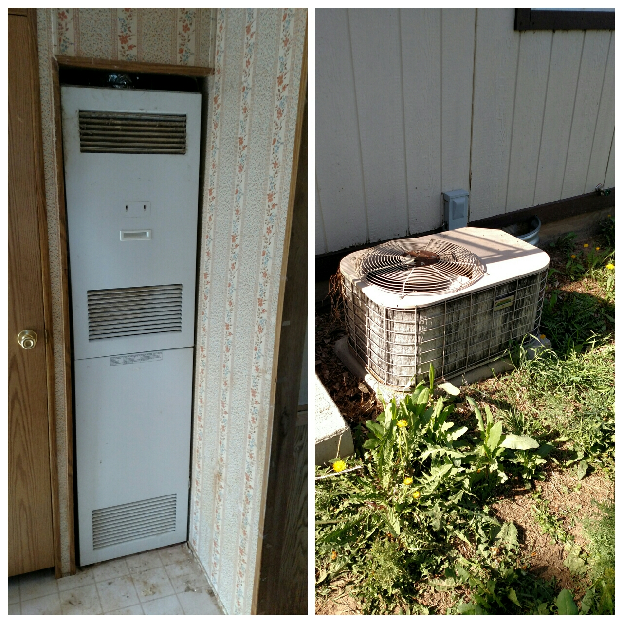 Pierce, CO - Tearing out old Coleman furnace and AC to replace with new Trane equipment.