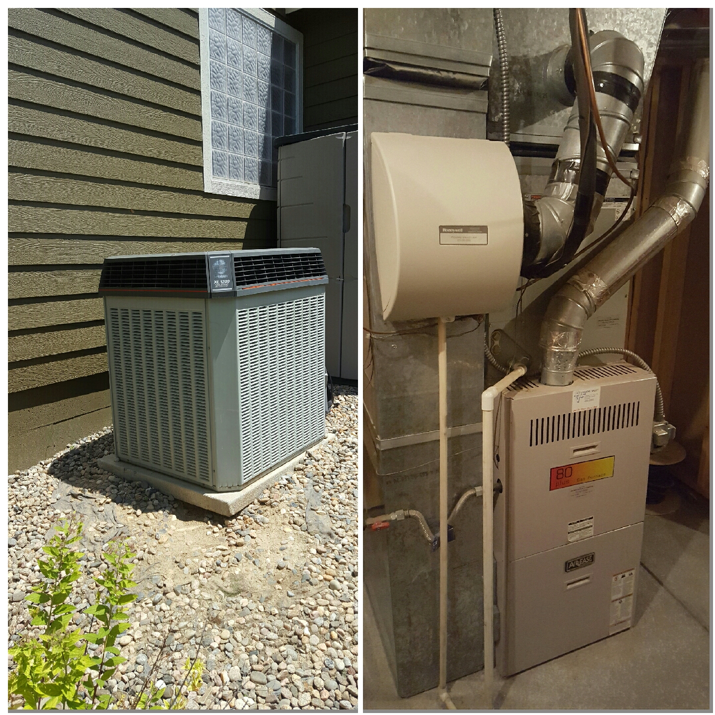 Windsor, CO - Replace trane AC and furnace with Honeywell humidifier