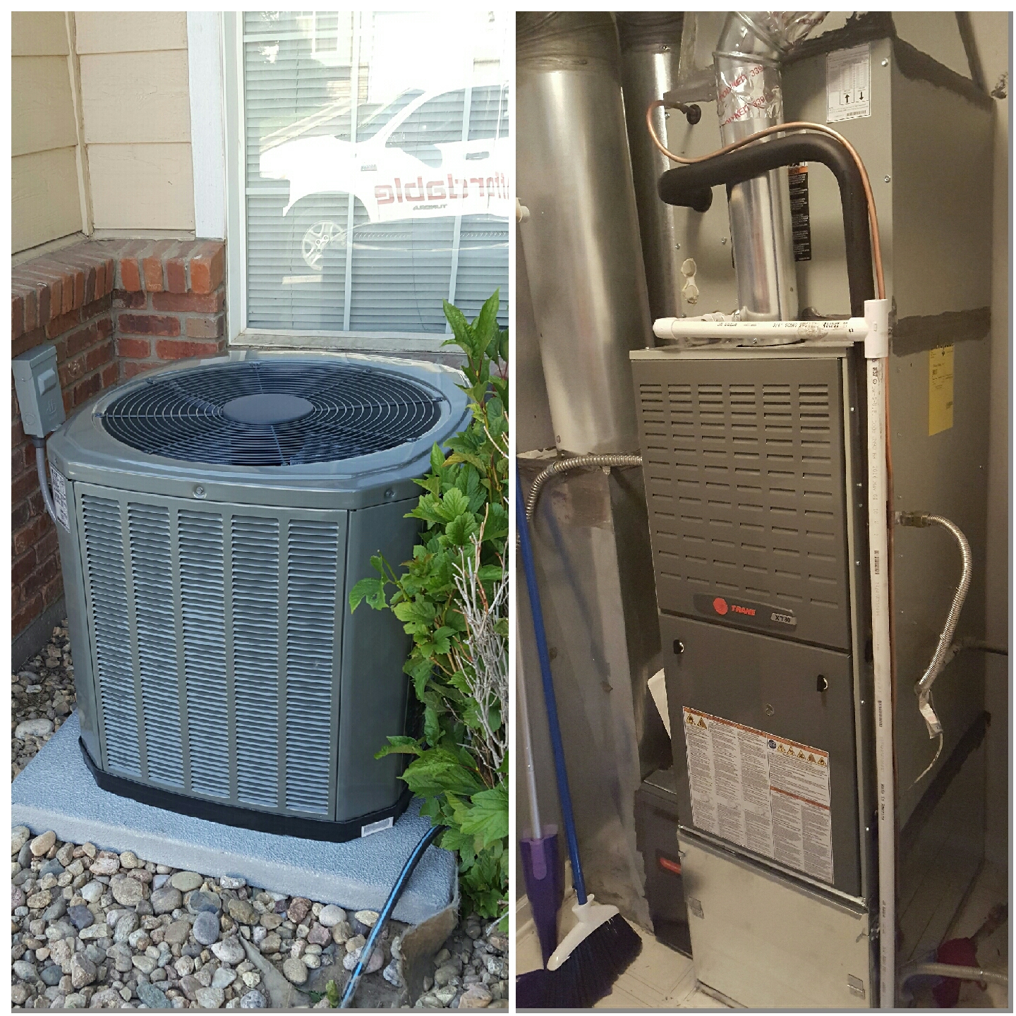 Greeley, CO - Trane XT80 single stage furnace and single stage XR AC  install Greeley