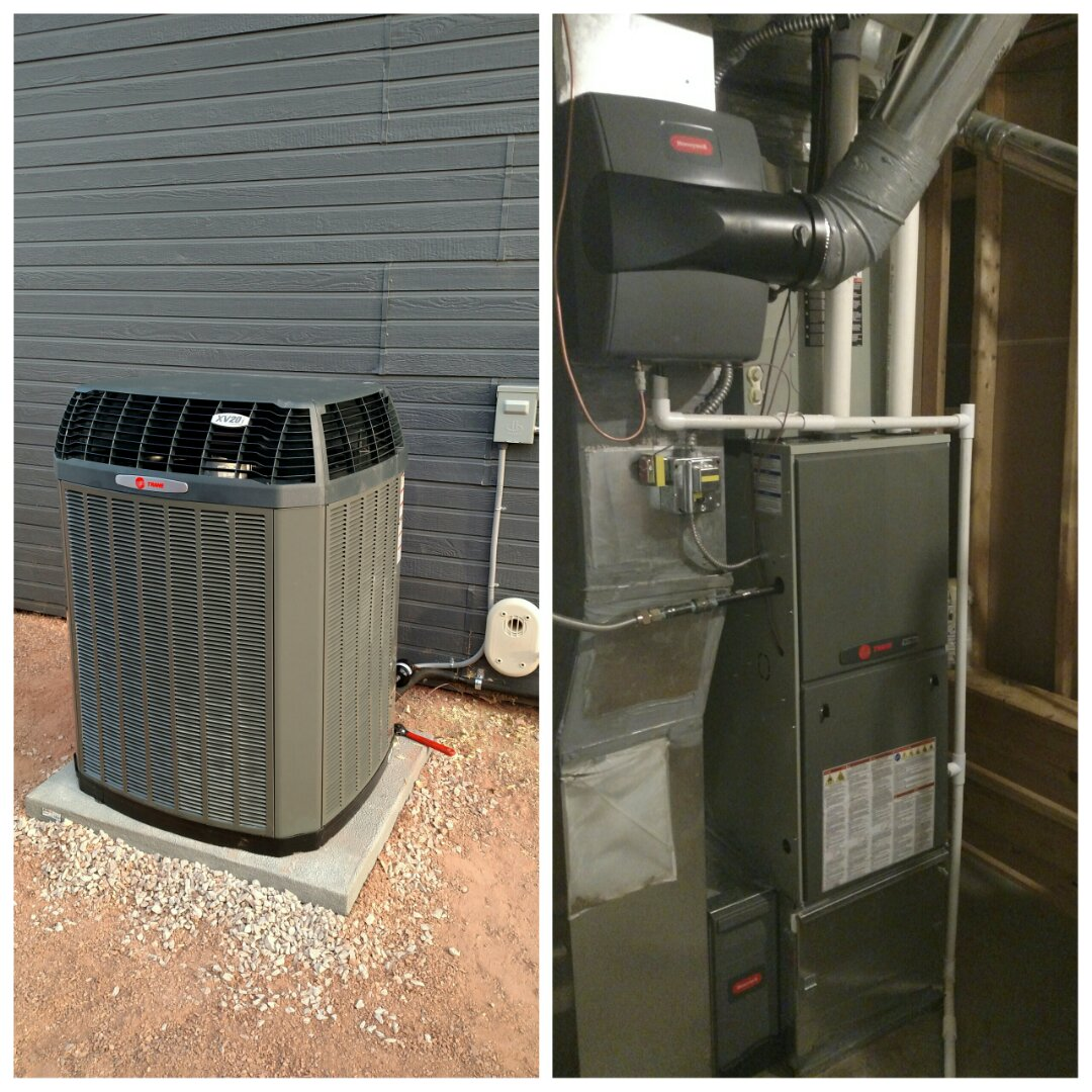 Severance, CO - Replace old carrier furnace and AC with brand new Trane high efficiency communicating system
