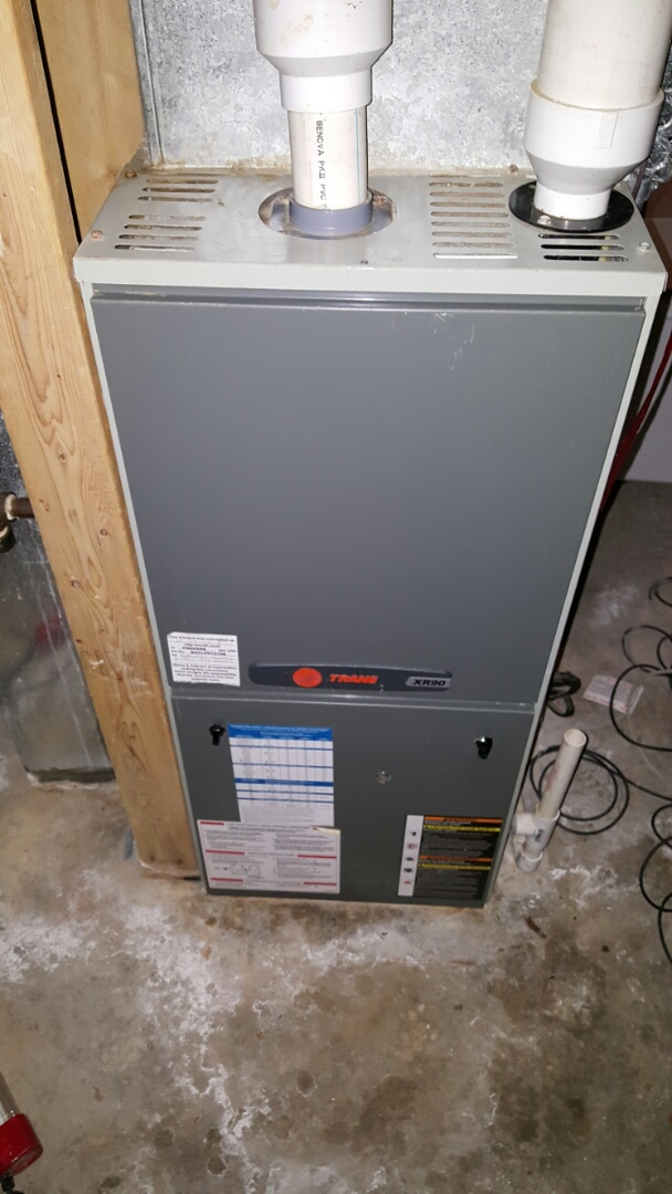 Eaton, CO - Trane furnace. Service and repair. Clean and check. Replace flame sensor.