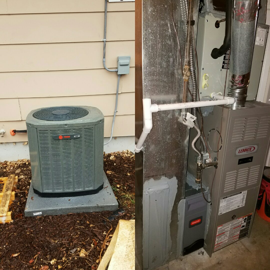 Wellington, CO - Trane single stage AC install with Honeywell Media filter