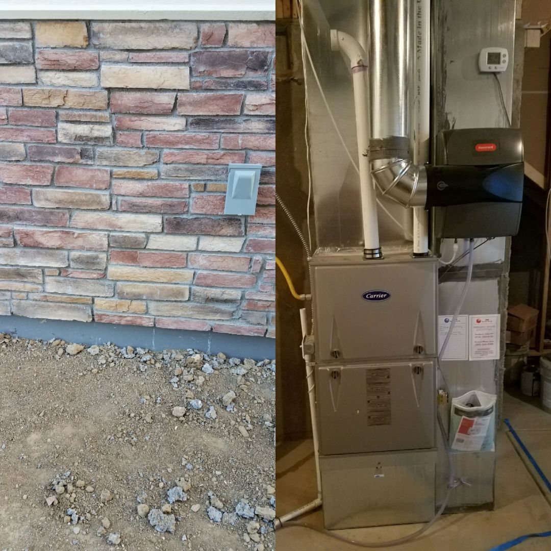 Windsor, CO - Trane AC install new construction Windsor unfinished basement