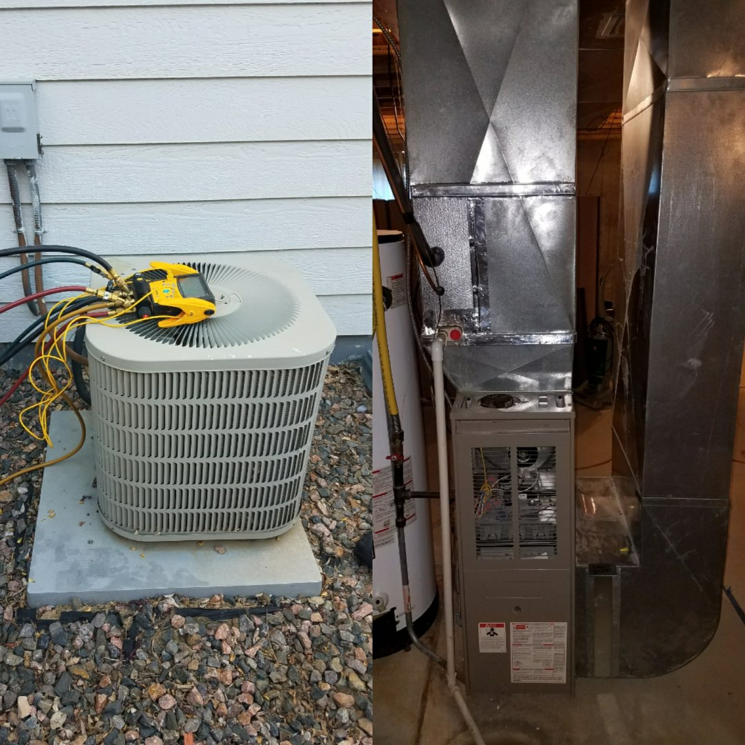 Evans, CO - Replace Lennox 80 percent efficient furnace and AC Evans
