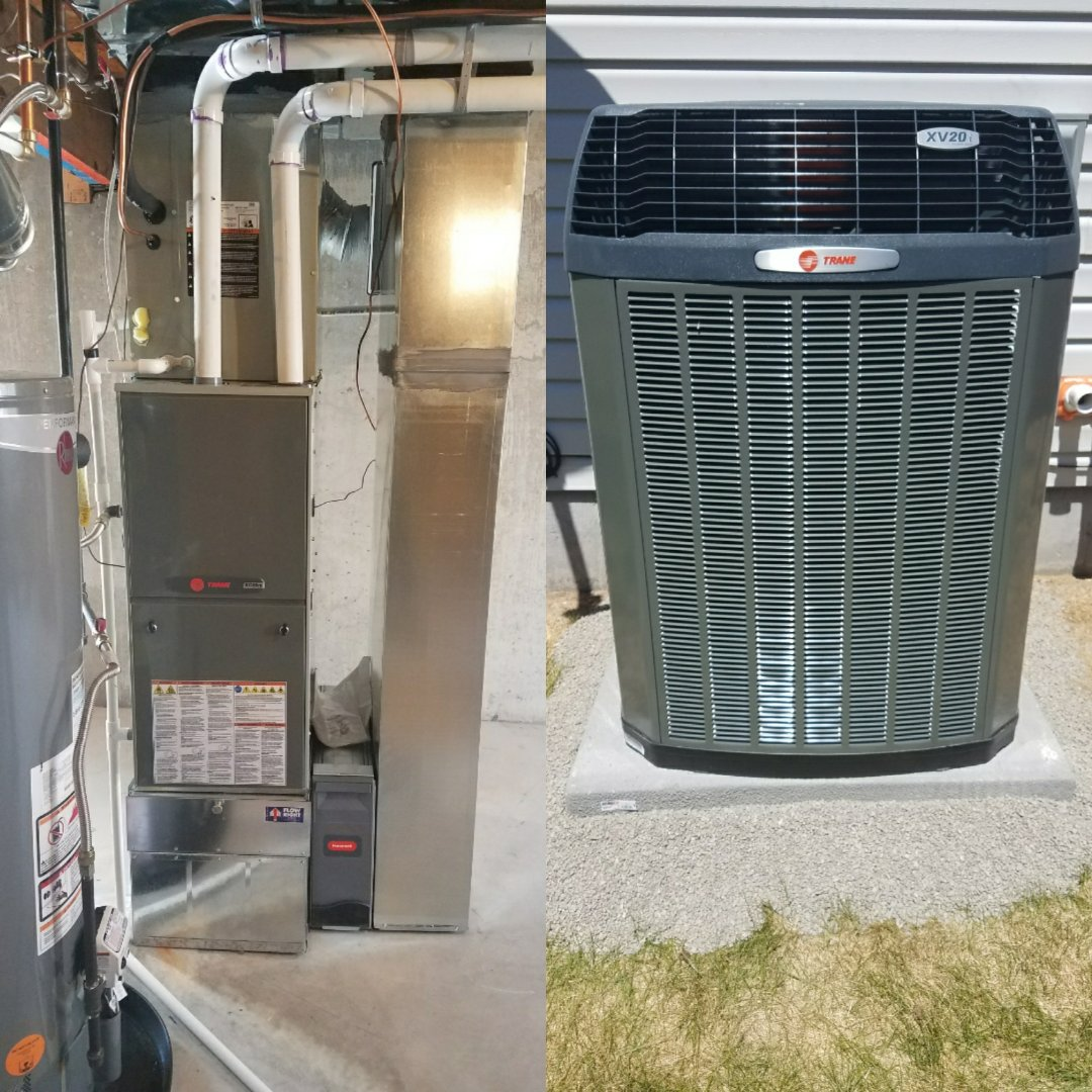 Greeley, CO -  Trane variable speed furnace and ac install Greeley