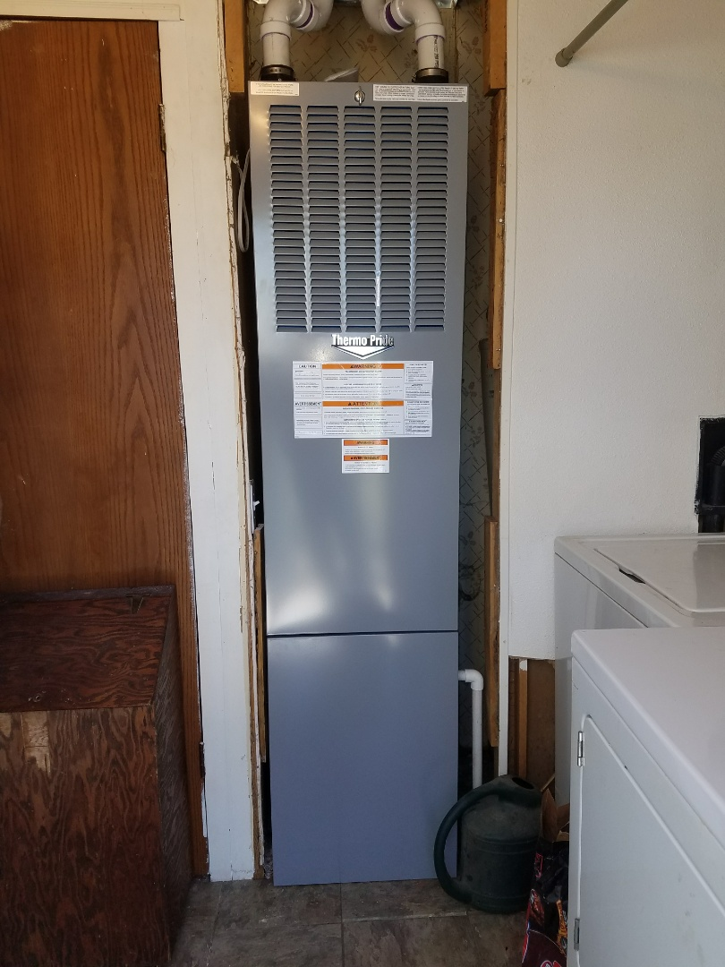 Evans, CO - Intertherm mobile home furnace install Greeley