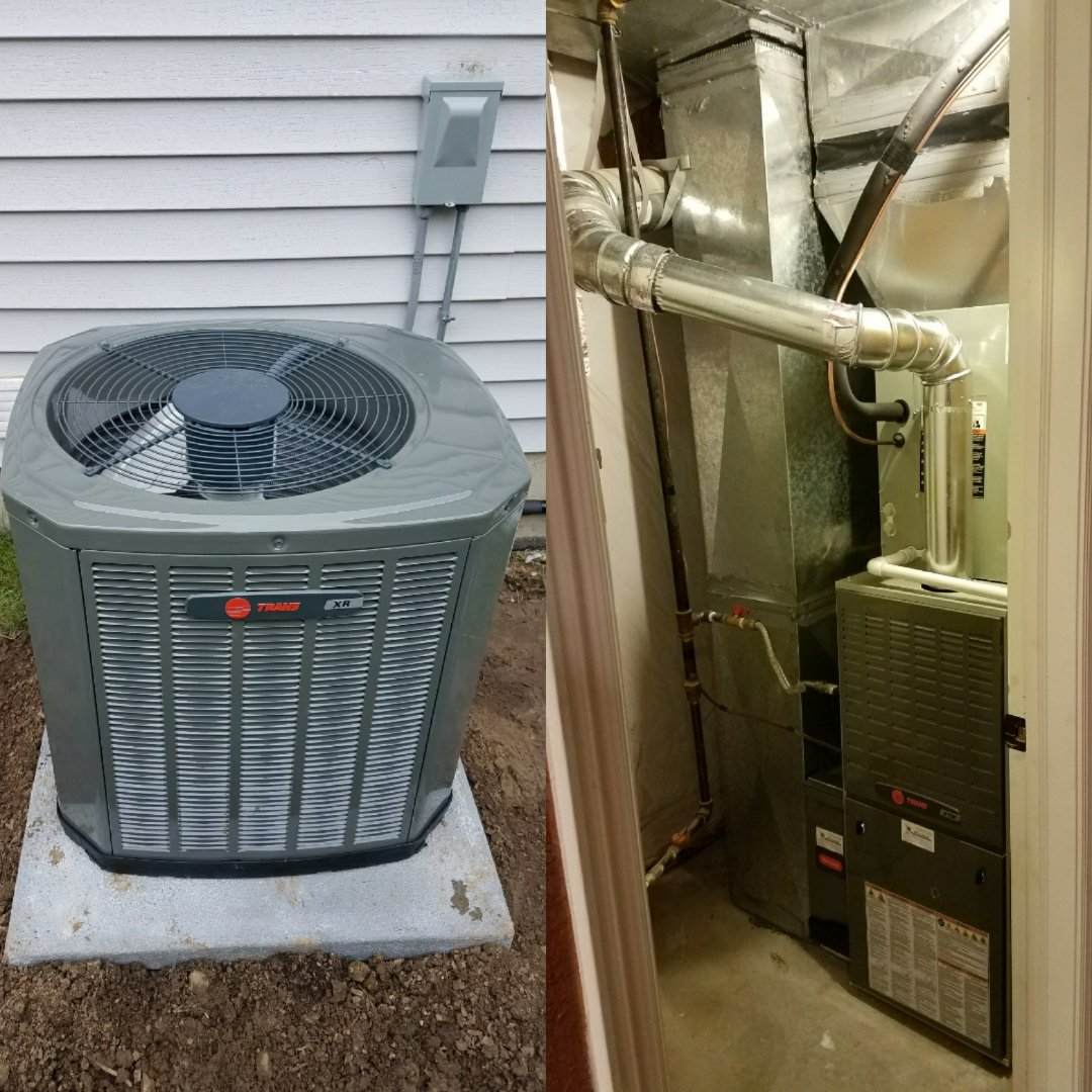 Severance, CO - Trane furnace and AC install severance