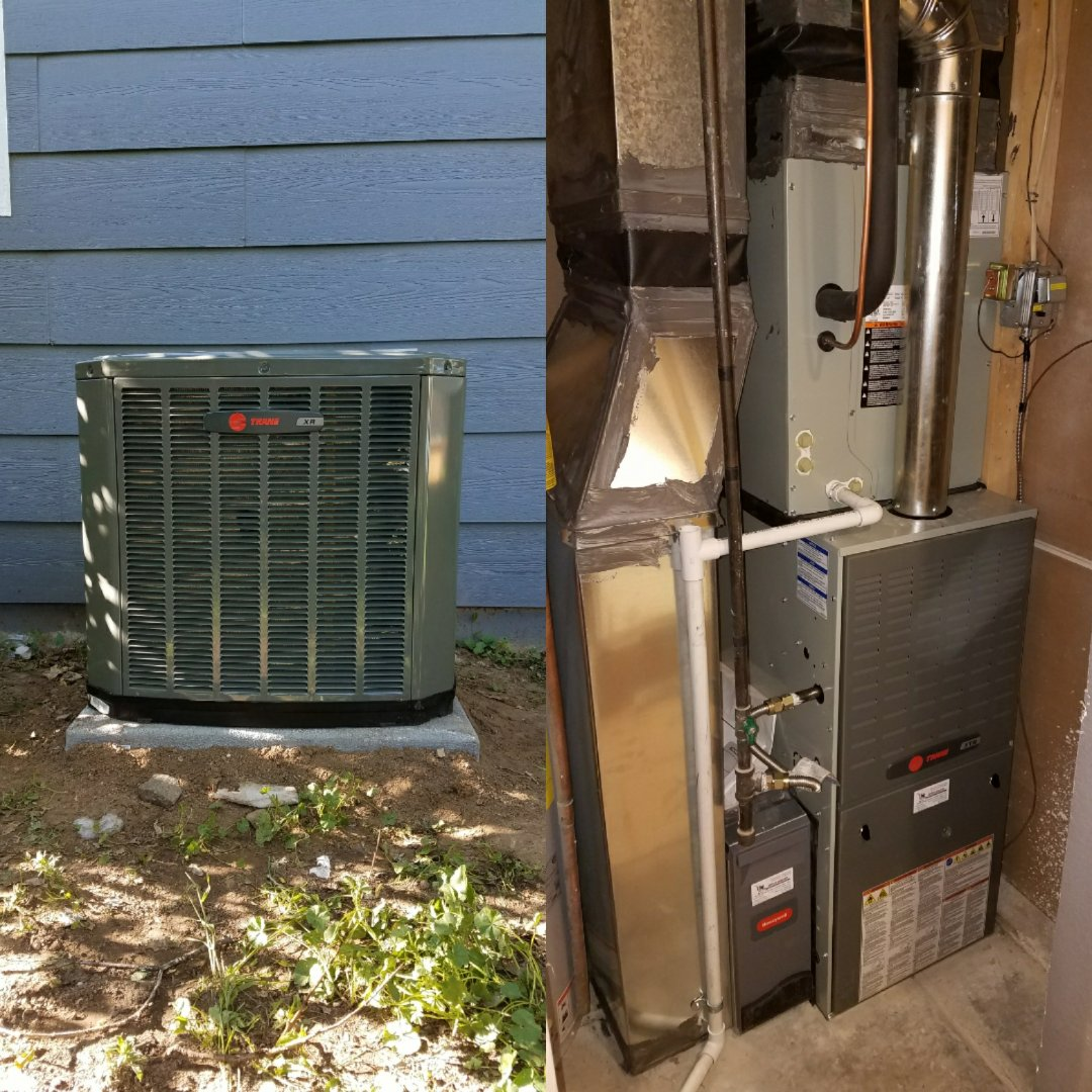 Greeley, CO - Trade standard efficiency furnace with single stage AC install