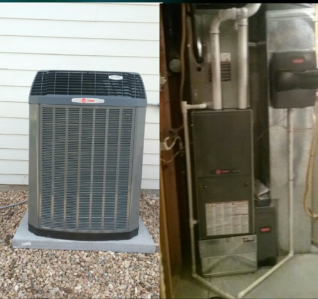 Greeley, CO - Install Trane variable speed modulating communicating furnace and AC and honeywell humidifier