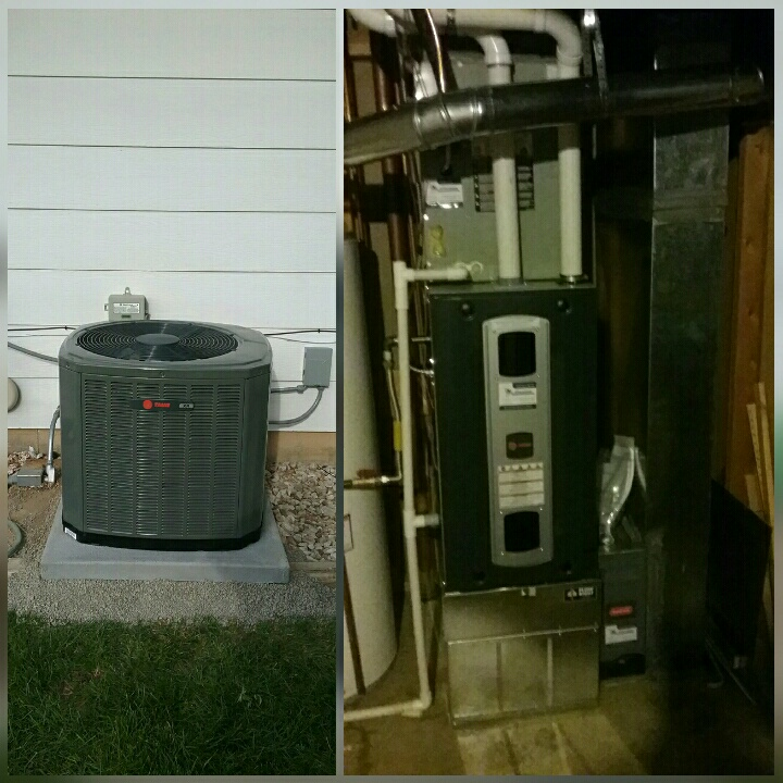 Greeley, CO - Install Trane 2 stage furnace and AC in Greeley