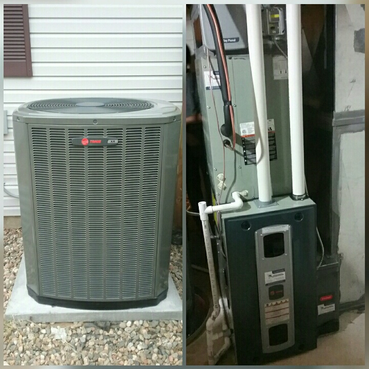 Evans, CO - Install Trane variable speed furnace and Trane 2 stage AC in Greeley