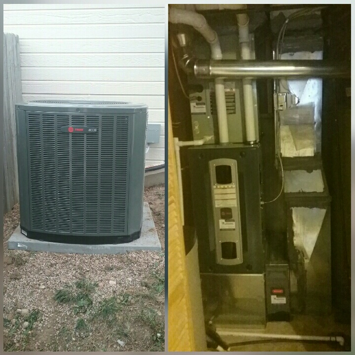 Evans, CO - Install Trane high efficient furnace and Trane AC in Greeley