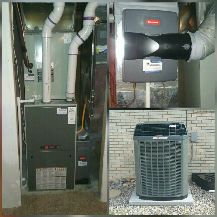La Salle, CO - Install Trane communicating modulating furnace and install Trane variable speed comunicatting heat pump and honeywell humidifier in Platteville